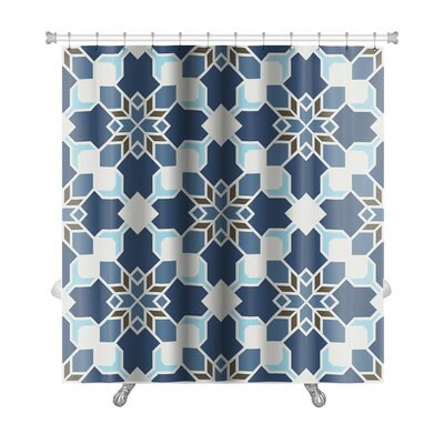 Delta Geometric Islamic Wallpaper Arabic Colorful Premium Shower Curtain