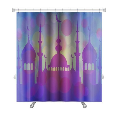 Arabic Touch Mosque at Beginning of Ramadan Premium Shower Curtain
