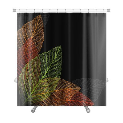 Leaves Skeleton Leaf Premium Shower Curtain