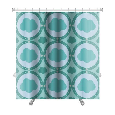 Alpha Cute Cloud Shower Curtain