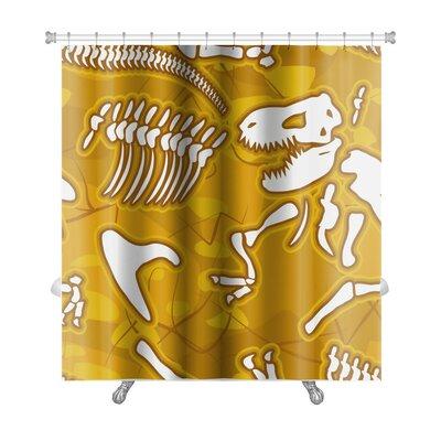 Dinosaurs Dinosaur Bones Premium Shower Curtain