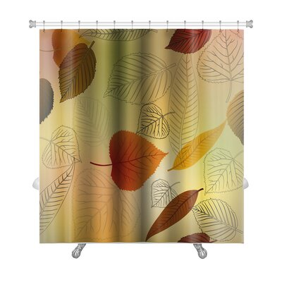 Leaves Autumn Leafs Fall Premium Shower Curtain