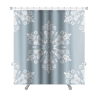 Primo Damask with Oriental Elements Premium Shower Curtain