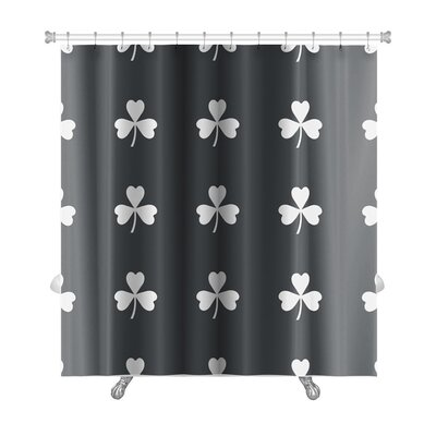 Slide Image of Clover Leaf Repeated Premium Shower Curtain