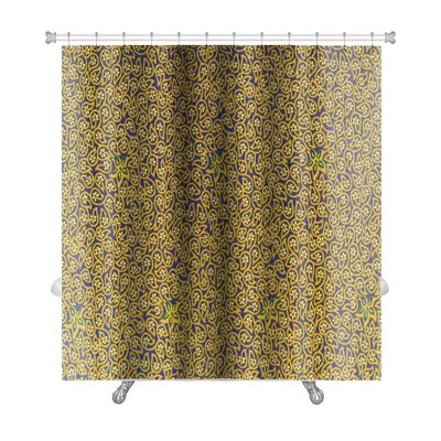 Charlie Close Up Beautiful Flower and Leaf Premium Shower Curtain