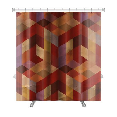 Delta Vintage Pattern Abstract Premium Shower Curtain Color: Burgundy/Red