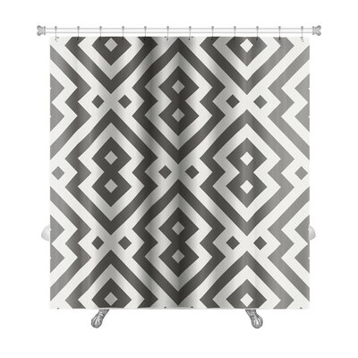Simple Pattern Arabic Geometric Islamic Art Premium Shower Curtain