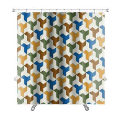 Gamma Islamic Tiles Premium Shower Curtain