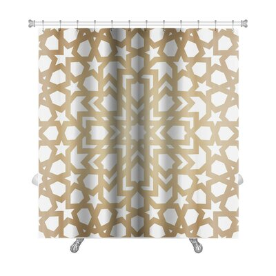 Simple With Pattern in Islamic Style Premium Shower Curtain