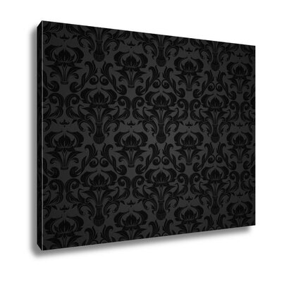 'Seamless Wallpaper Pattern' Graphic Art Print in Black/Grey