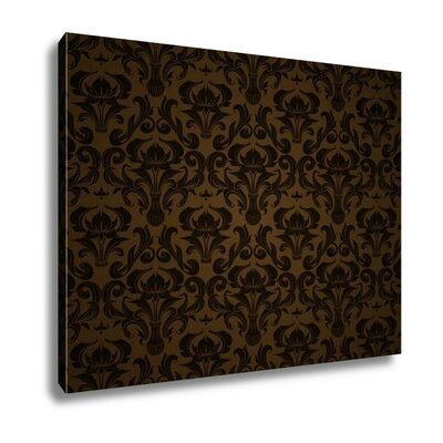 'Seamless Wallpaper Pattern' Graphic Art Print in Brown/Black