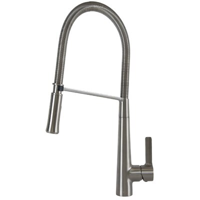 Single Handle Pull Down Bar Faucet Finish: Brushed Nickel