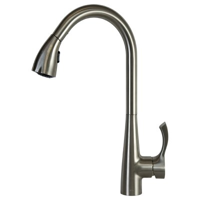 Single Handle Pull Down Bar Faucet with Swing Spout Finish: Brushed Nickel