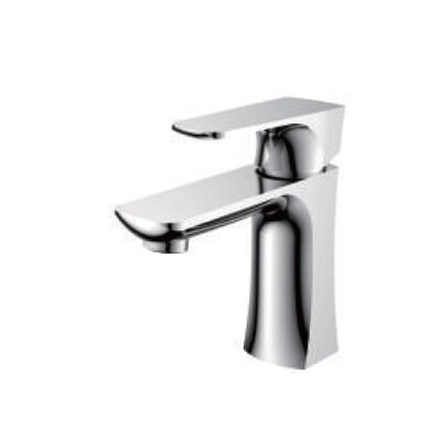 Single Handle Bathroom Faucet with Drain Assembly Finish: Chrome