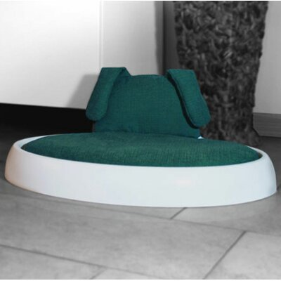 Beautifool Pet Naptime Dog Bed with Cushion Color: White Frame with Teal/Dove