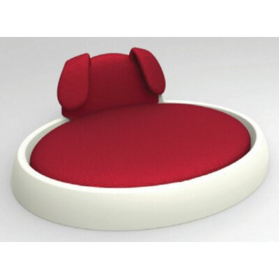 Alyssa Naptime Dog Bed with Cushion Color: White Frame with Red/Light Grey