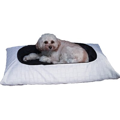 Beautifool Pet Pasha Dog Bed Size: Large, Color: White/Black