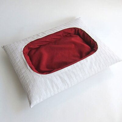 Beautifool Pet Pasha Dog Bed Size: Medium, Color: White/Red