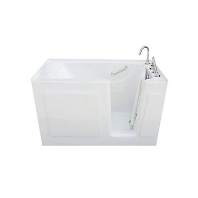 54 L x 30 W x 38 H Whirlpool Drain Location: Left