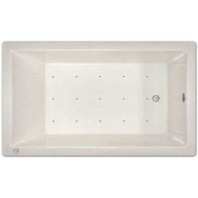 72 x 42 Air Tub Drain Location: Left Drain
