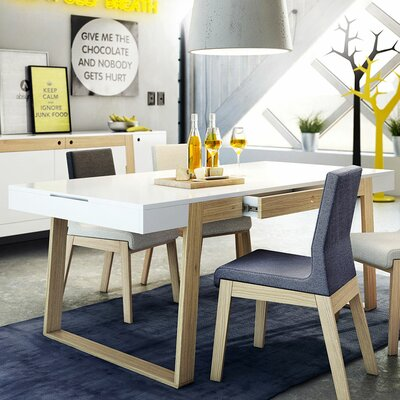 Magh Dining Table Finish: White