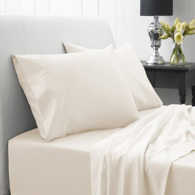 Lasalle 1200 Thread Count Sheet Set Size: Twin, Color: Ivory