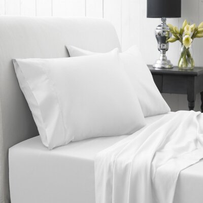 Lasalle 1200 Thread Count Sheet Set Size: Twin, Color: White