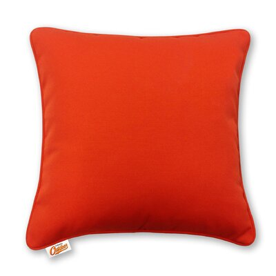 Stansell Outdoor Throw Pillow Color: Orange
