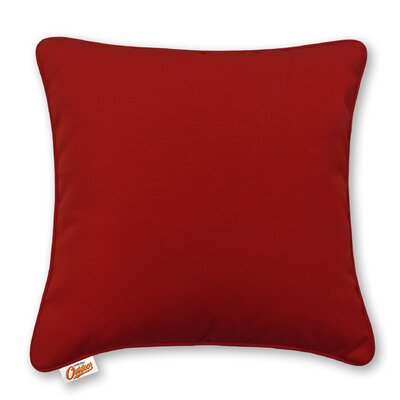 Stansell Outdoor Throw Pillow Color: Red