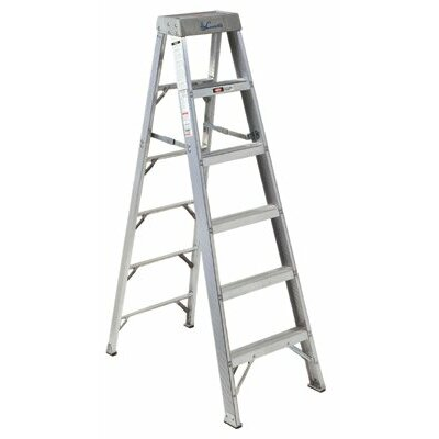 Louisville 8 ft Aluminum Master Step Ladder with 300 lb. Load Capacity