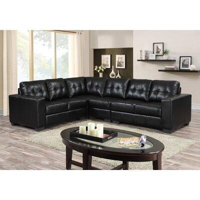 Henrike Modular Sectional Upholstery: Black