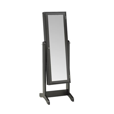 Teshawn Jewelry Armoire with Mirror Finish: Dark Cherry