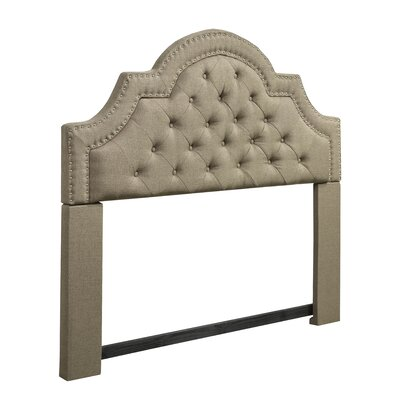 Dirk Upholstered Panel Headboard Upholstery: Brown