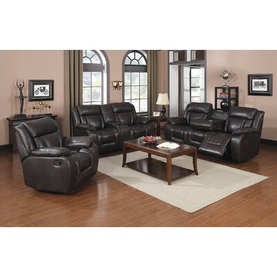 Kaity Reclining 3 Piece Living Room Set