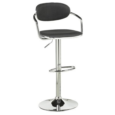 Soho Adjustable Height Swivel Bar Stool Upholstery: Black