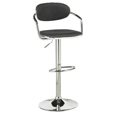 Soho Adjustable Height Swivel Bar Stool Upholstery: Black