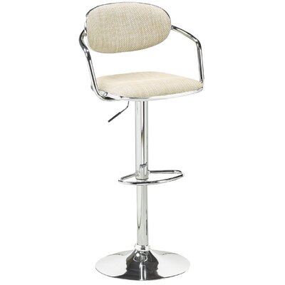 Soho Adjustable Height Swivel Bar Stool Upholstery: Beige