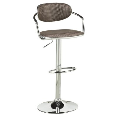 Soho Adjustable Height Swivel Bar Stool Upholstery: Brown