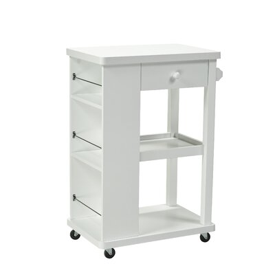Candace and Basil Kitchen Cart Finish: White