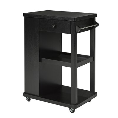 Candace and Basil Kitchen Cart Finish: Black