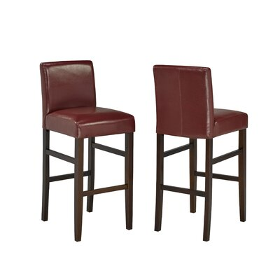 29 Bar Stool Upholstery: Red