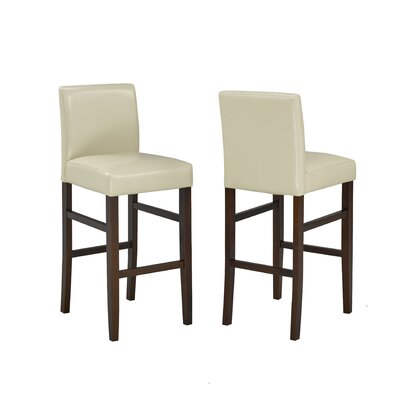 Lathrop 29 Bar Stool Upholstery: Cream