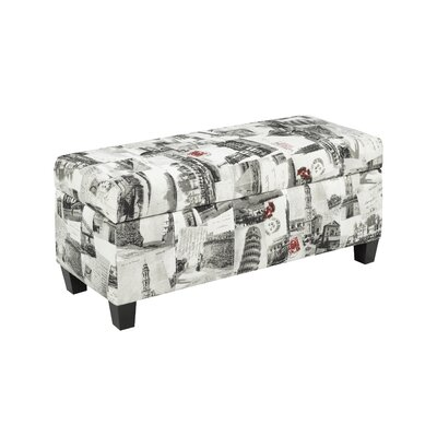 City Printed Storage Ottoman