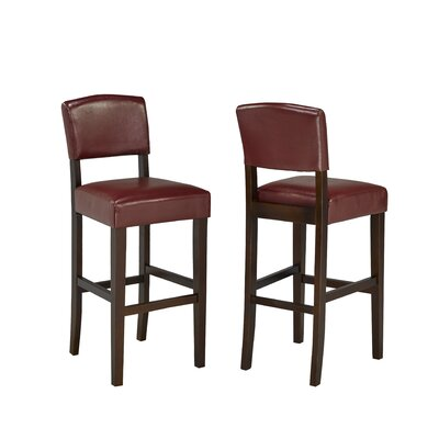 29 inch Bar Stool Upholstery: Red