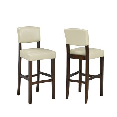 29 Bar Stool Upholstery: Cream