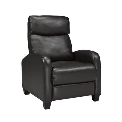 Soho Push Back Recliner Upholstery Color: Brown