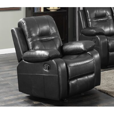 Napolean Recliner Upholstery Color: Black