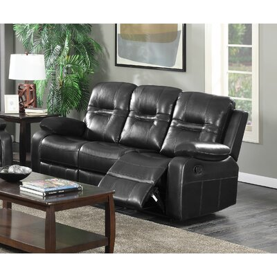 Napolean Recliner Reclining Sofa Upholstery: Black
