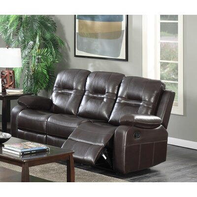 Napolean Recliner Reclining Sofa Upholstery Color: Brown