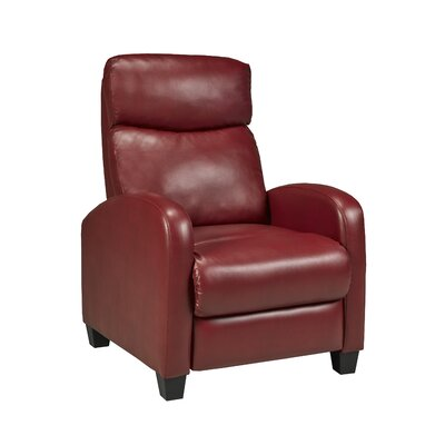 Davita Manual Recliner Upholstery: Red